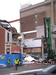 demolition of Schenectady's IOOF Hall continues - 31Jan2012