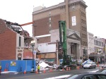 a view of Proctor's as demolition of Schenectady's IOOF Hall continues - 31Jan2012