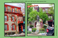collage showing tree in front of 101 Front St. in May 2012 and after National Gride cutting in January 2013