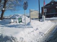 Erie sidewalk at Train Station